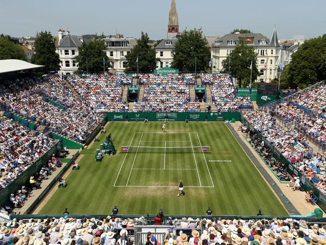 A full crowd watch Eastbourne's international tennis in 2019 / Picture: Getty