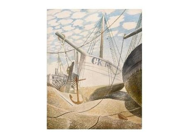 Mackerel Sky by Eric Ravilious, which was sold in 1939. Photograph: Hastings Contemporary