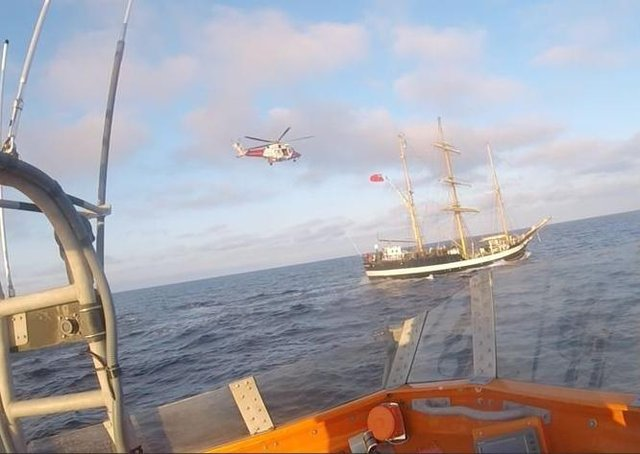 The lifeboat and a rescue helicopter responded to the incident last week