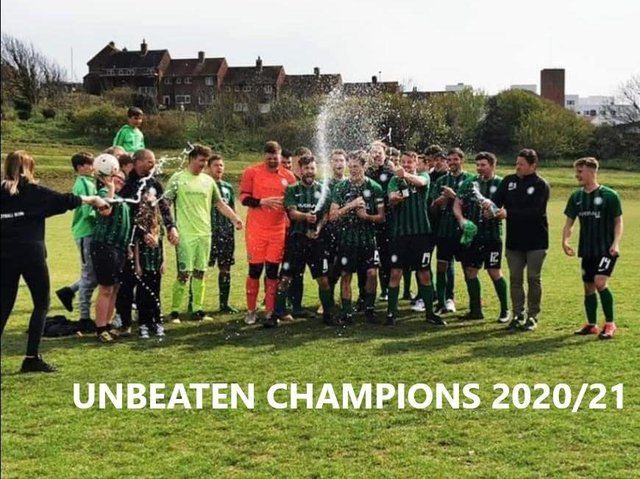 FC Sporting celebrate their title
