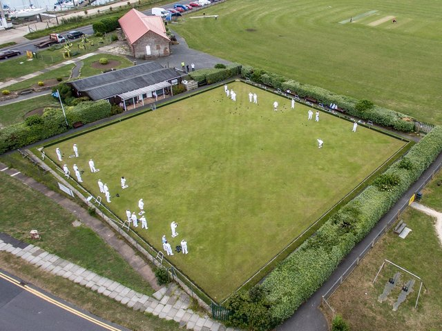 Newhaven Bowls Club from above