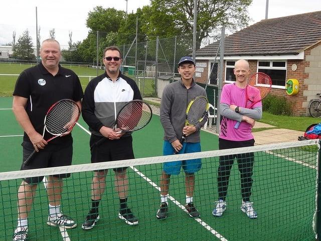 Hailsham TC's Neil Downer, Johan Jooste, Johnny Chea and Simon Underwood