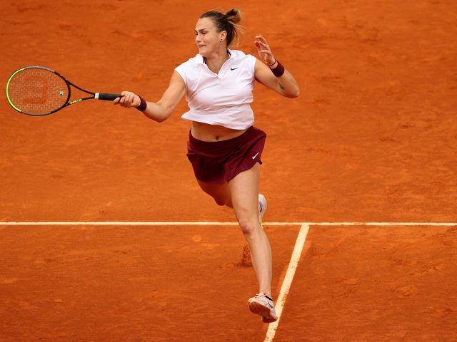 Aryna Sabalenka in action in the recent Madrid Open / Picture: Clive Brunskill/Getty Images