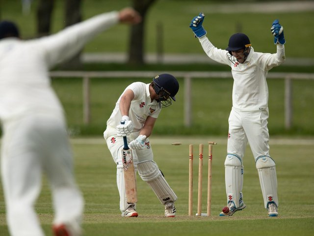 Action from Chichester Priory Park CC v Mayfield in division two of the Sussex Cricket League / Pictures: Chris Hatton