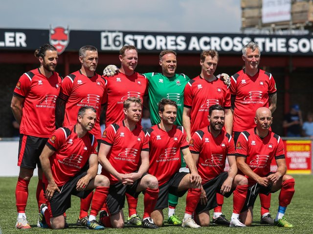 The Eastbourne line-up for the match / Picture: Andy Pelling