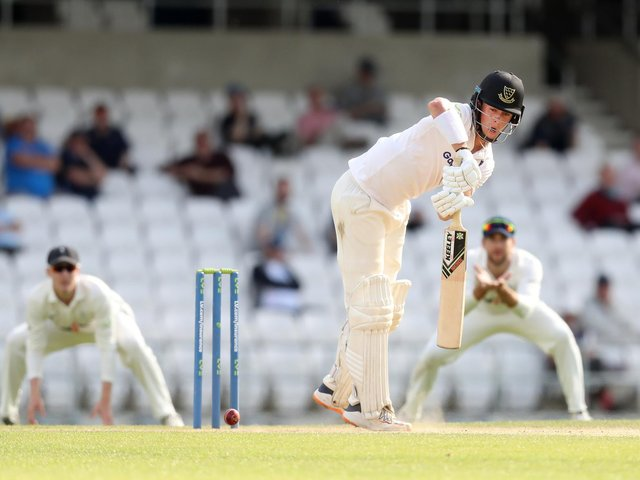 Ali Orr defends nicely in Sussex's second innings at Headingley / Picture: Getty