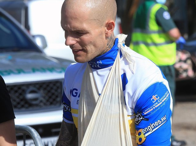 Lewi Kerr after his injury / Picture: Mike Hinves