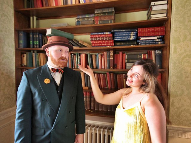 Will Bianca (Natasha Heath Brown) see through Tranio's cunning disguise  (Anthony Lusted)