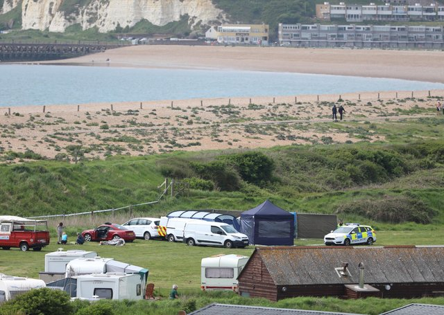 Sarah Clayton was found dead at the campsite in Seaford