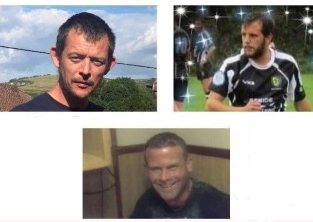 The names of Robert Morley, Adam Harper and Darren Brown will all be on the memorial