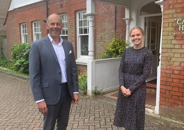 Susie Jones with Phil Spencer, of Location, Location, Location, in Worthing