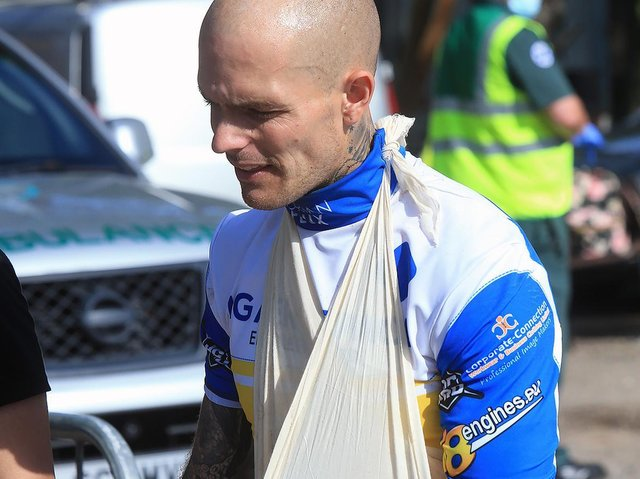 Injured Lewi Kerr / Picture: Mike Hinves