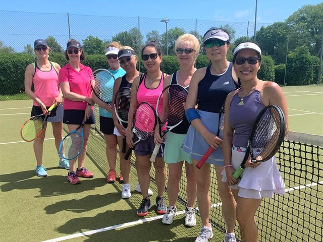 The Hailsham and Meads ladies who met