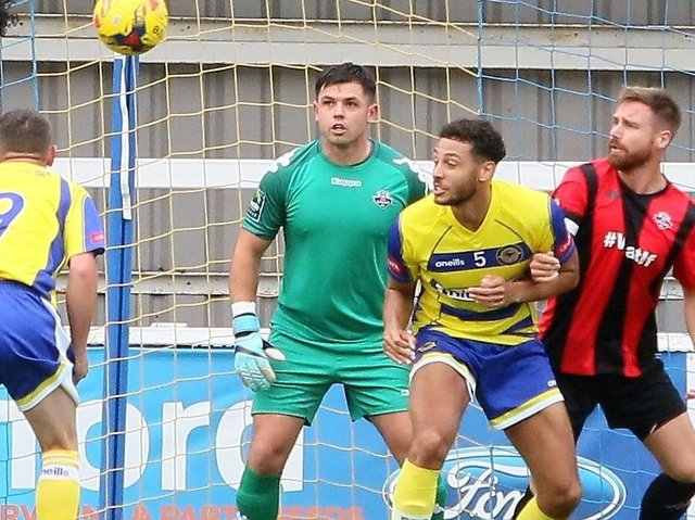 Returning goalkeeper Lewis Carey is one of four new signings at Lewes. Picture by Angela Brinkhurst