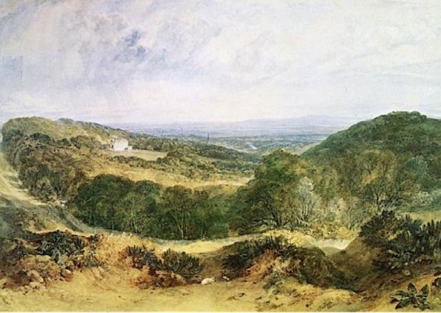 The Vale of Heathfield by Turner, 1810. The lordship of the manor of Heathfield is one of the titles up for sale.