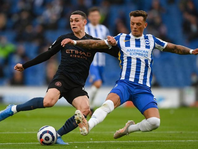 Brighton's Ben White and Manchester City's Phil Foden are in contention to play for England against Croatia this Sunday