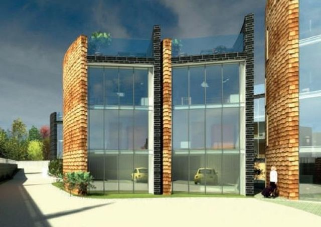An artists' impression of the proposed development