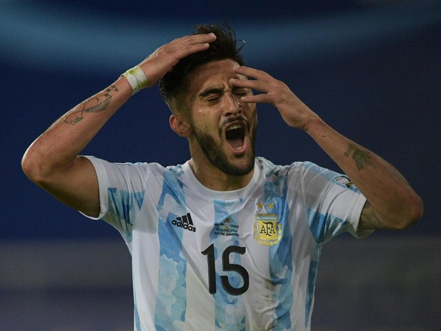 Nicolas Gonzalez is in action for Argentina at the Copa America