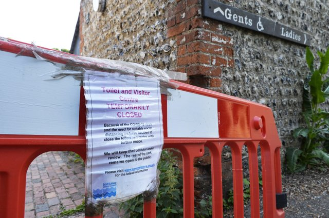 Toilets and visitor centre closed at Seven Sisters car park (Photo by Jon Rigby)