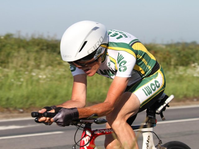 Peter Baker in time trial action / Picture: Dave Clements