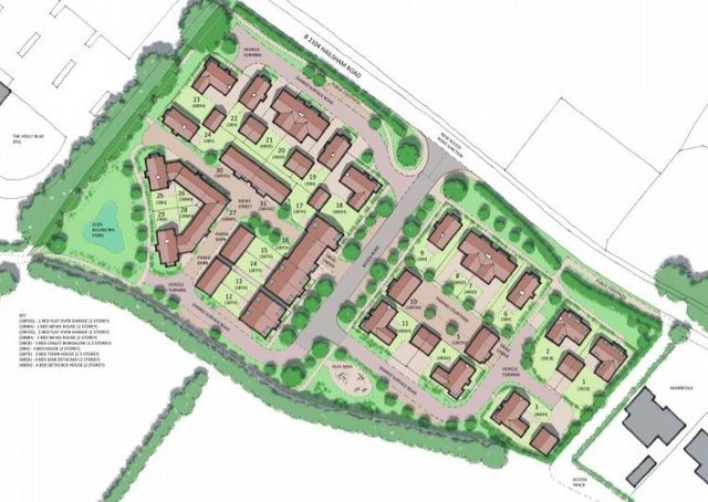 Layout plan for the proposed Stone Cross development