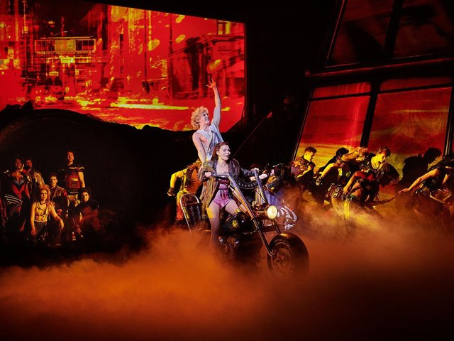 The original West End cast of BAT OUT OF HELL THE MUSICAL. Photo Credit Specular 3