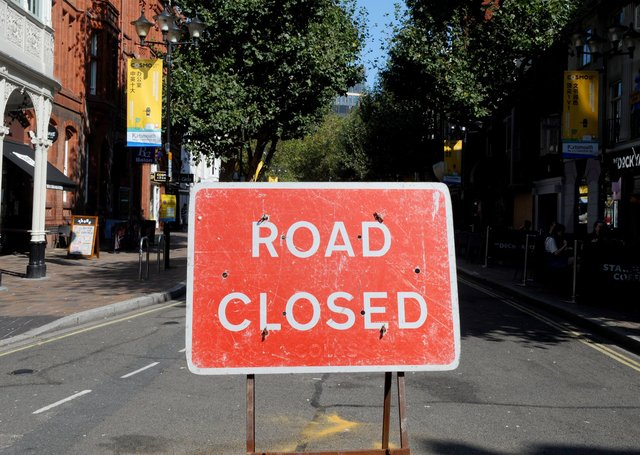 Roads closed around Eastbourne this week