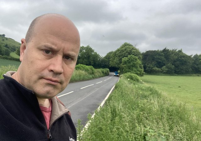 Rob Banks along with fellow Lib Dems has been calling for measures to improve road safety in Plumpton