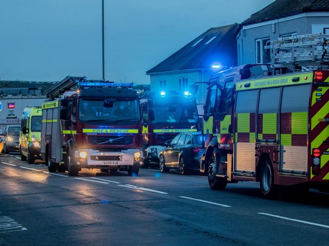Fire crews at the scene. Photo: Dan Moon @dmoonuk