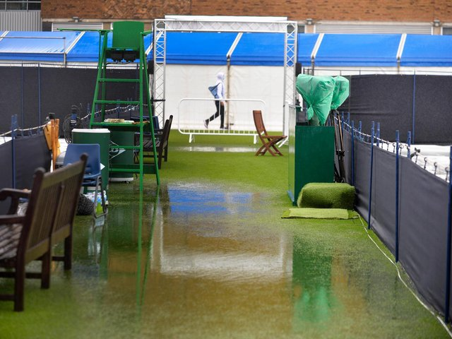 What Devonshire Park suffered on Miserable Monday ... Picture: Jon Rigby