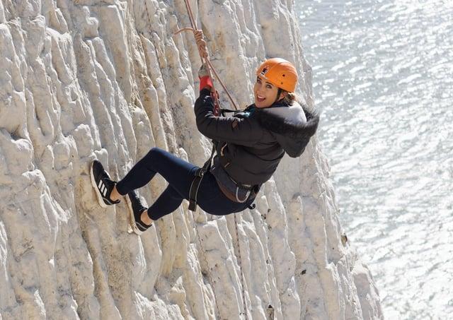 Abseil down Peacehaven Cliffs Picture: Hatt Adventures SUS-210623-145323001