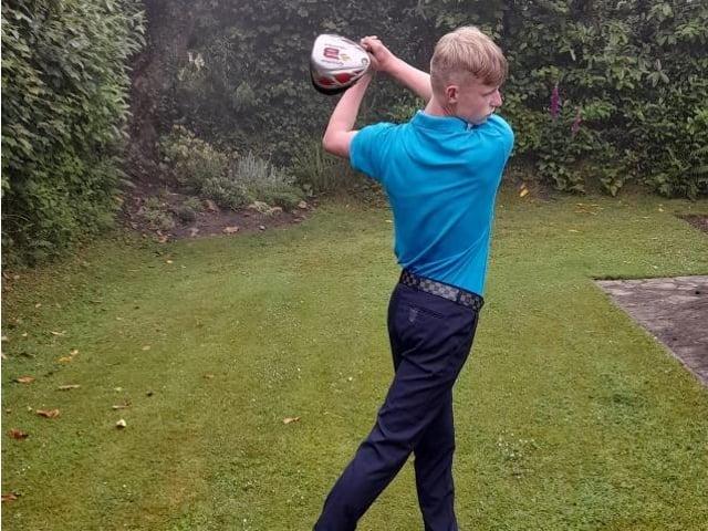 Will Young won Crowborough GC's Claret Jug