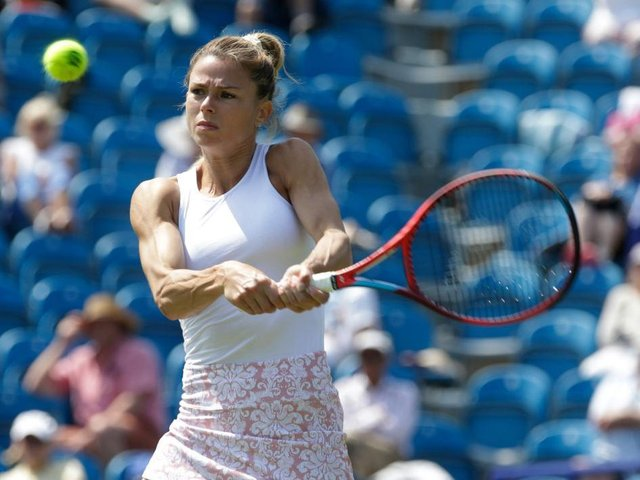Camila Giorgi on her way to another surprise win and a semi-final spot / Picture: Getty