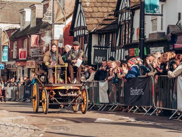 A car travelling through Crawley High Street
