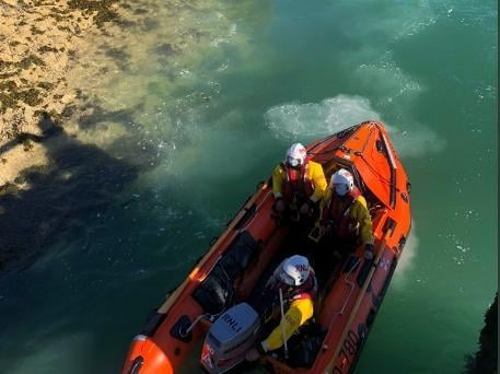 Lifeboat and Coastguard teams from Shoreham and Brighton were alerted to a Maycall call, close to Rottingdean. Photo: Shoreham Lifeboat