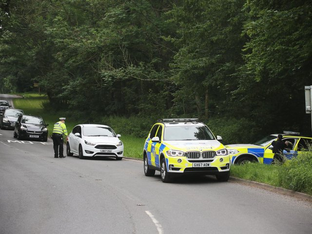 There has been a significant police presence on Bostal Road. Photo: Eddie Mitchell