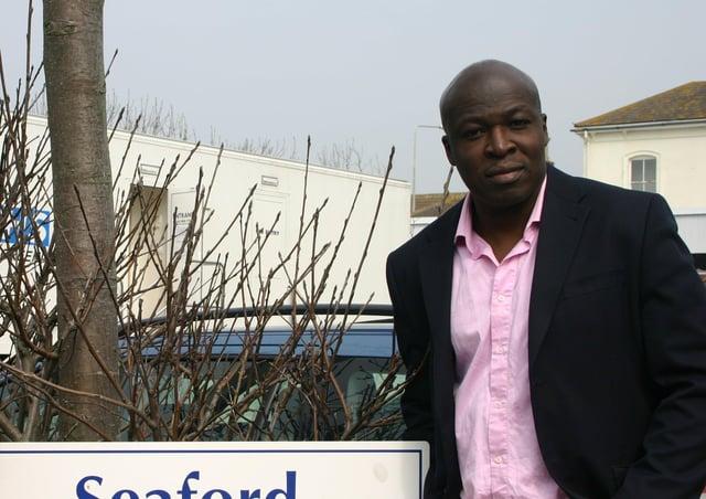 Councillor Sam Adeniji at Seaford Health Centre