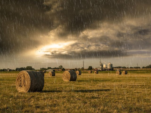 There could be heavy showers this weekend