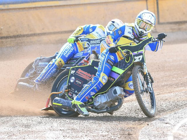 Action from the Eagles first leg v Kent / Picture: Mike Hinves