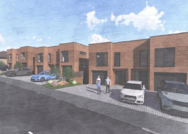 Proposed new homes at the former Searchlight Workshops site in Newhaven
