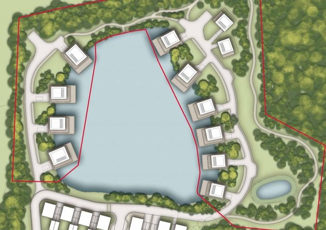 Indicative layout of proposed new homes at the former Hamsey Brickworks site