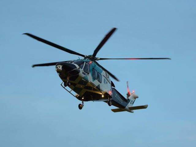 An air ambulance landed at the scene. Photo: Dan Jessup