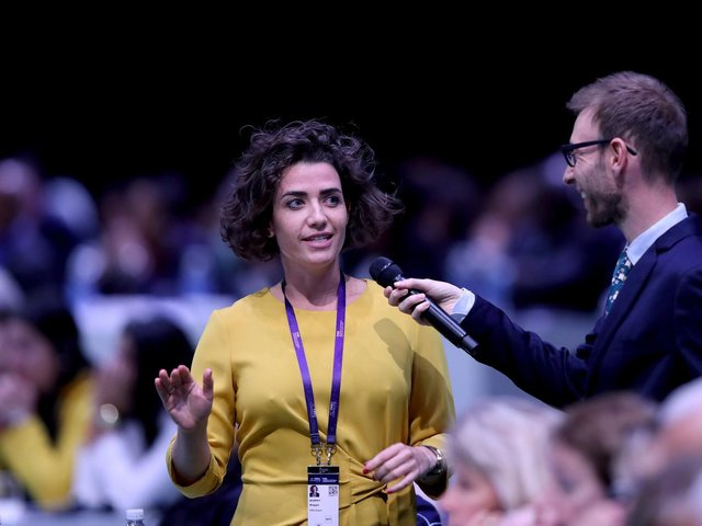New Lewes CEO Maggie Murphy, pictured speaking during the FIFA Women's Football Convention at Paris Expo Porte de Versailles in June 2019 in Paris, is looking forward to her new role at the club. Picture by Hannah Peters - FIFA/FIFA via Getty Images