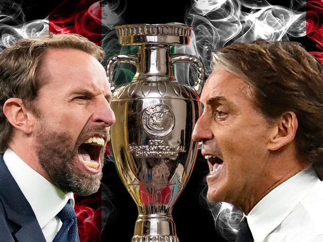 Gareth Southgate faces off against Roberto Mancini in the Euro 2020 final