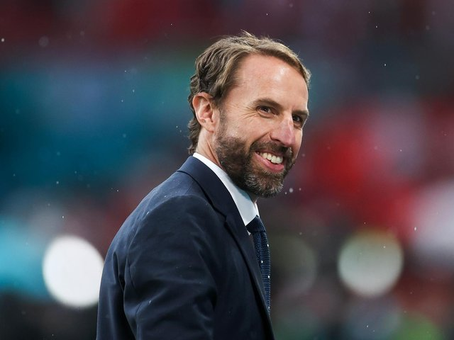 Gareth Southgate is all smiles before the game