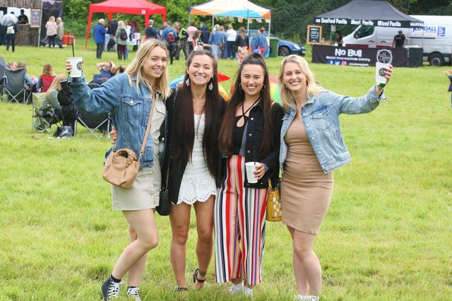 DM21070948a.jpg. Sussex Gin and Fizz Festival. From left, Sophie Doust, Allana Falconer, Helen Edwards and Becky Drakeford. Photo by Derek Martin Photography. SUS-211007-204221008