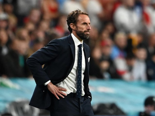 Gareth Southgate during the final against Italy