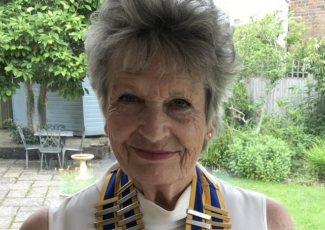 Carole Gartrell, president of the Rotary Club of Lewes SUS-211207-135153001