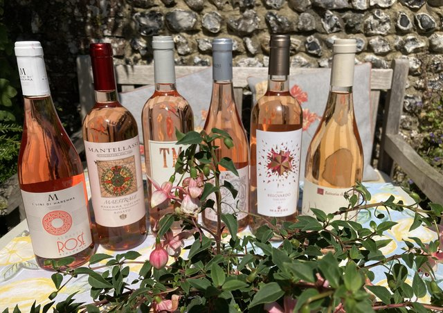 Rosé wines produced in the Maremma, Italy