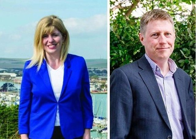 Maria Caulfield MP (left) and Councillor James MacCleary